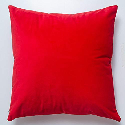 IUwnHceE Almohadas Almohadas Corporales Y para Embarazadas Terciopelo Color Sólido Simple-China Rojo_Los 45Cm * Los 45Cm