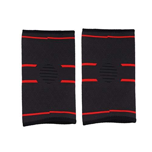 Healifty Ellenbogenbandage Kompressionsarmmanschette Atmungsaktiv Elastischer Sportprotektor für Sport 1 Paar Größe M (Rot)