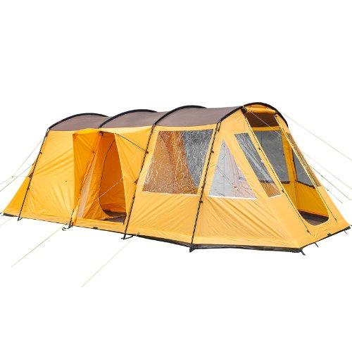 Skandika Nordland 4- Tenda famigliare- 4 Persone- 580 x 320 cm- Arancione/Marrone- Nuova
