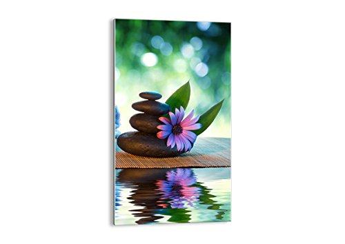 Quadro su vetro - Elemento unico - Natura rilassamento spa candele - 45x80cm - Pronto da appendere - Home Decor - Arte digitale - Quadri Moderni In Vetro - Stampe Da Parete - GPA45x80-2554