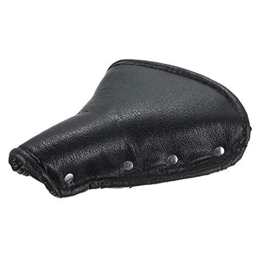 LIDONG Retro Classic Outdoor Sports Road Mountain Bicycle Leather Comfort Saddle Bicycle Saddle Replacement Padded (Color : Black)