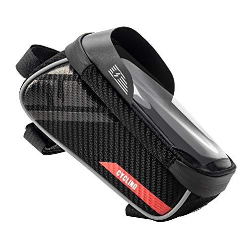 jinclonder wasserdichte Handy Fahrrad Kreuzbalken Oberrohr Tasche Aufbewahrungspaket PU laminiertes Eva Material, Regenwasser ist Nicht leicht zu durchdringen verbessern die Stabilität