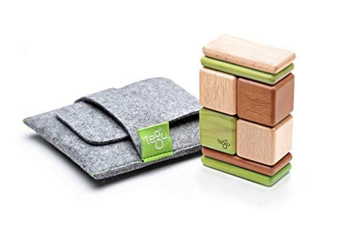 Tegu Pocket Pouch Magnetic Wooden Block Set