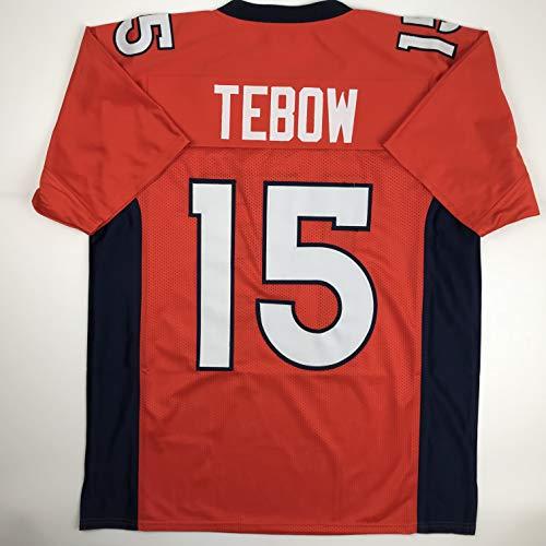 Unsigned Tim Tebow Denver Orange Custom Stitched Football Jersey Size Men's XL New No Brands/Logos