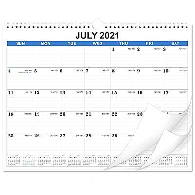 """2021-2022 Calendar - 18 Monthly Wall Calendar, July 2021 - December 2022, 14.6'' x 11.4"""", Academic Calendar, Large Blocks with Julian Dates, Twin-Wire Binding, Suitable for hanging on the wall with simple appearance and decorative effect."""