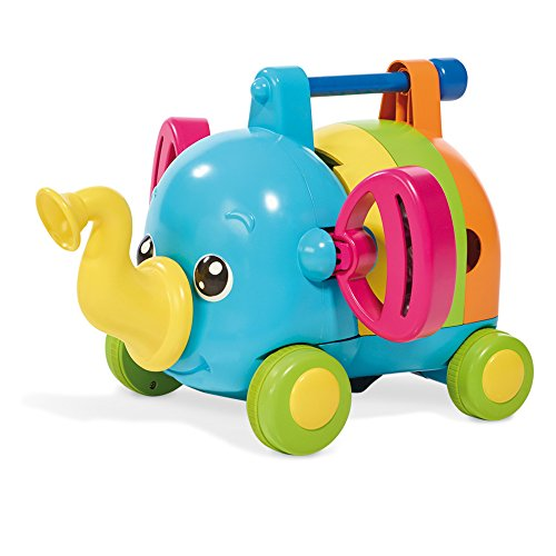 TOMY E72377 Babyspielzeug mit Musik Rudi Rasselelefant Mehrfarbig, bunt