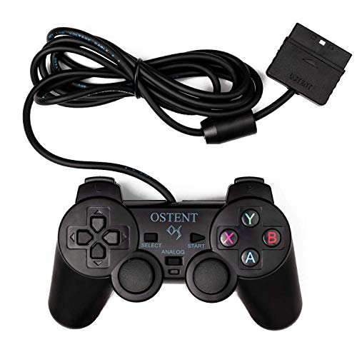 OSTENT Wired Analógico Controlador Gamepad Joystick Joypad para Sony Playstation PS2 PS1 PS One PSX Console Dual Shock Vibration Video Games
