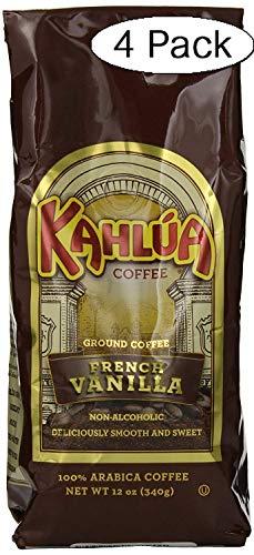 Kahlua Gourmet Ground Coffee, French Vanilla, 12 Ounce (Fоur Расk)