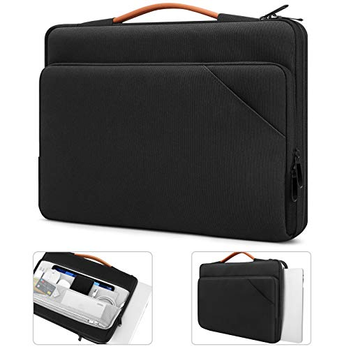 TiMOVO 14 Inch Laptop Sleeve with Handle for Macbook Pro 16' / 15' / Lenovo ThinkPad 14' / IdeaPad 3 / ASUS HP Acer Chromebook 14', Surface Book 15' / Laptop 15', Computer Bag with Pockets, Black