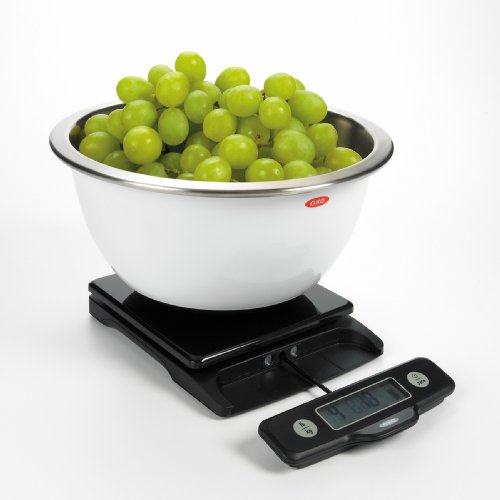 OXO 1157100 Good Grips 5 Lb Food Scale with Pull-Out Display,Black