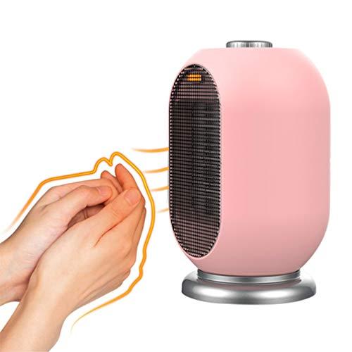 Portátil Mini Ventilador Calefactor, (700W / 1200W), PTC De Cerámica Calentador De Aire Eléctrico, Silencioso,Protección contra Vuelcos Y Sobrecalentamiento,Rosado
