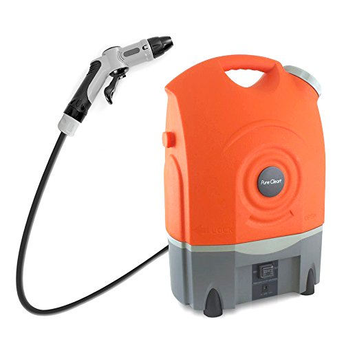 Pure Clean Outdoor Portable Spray Pressure Washer Cleaner System Built in Rechargeable Batteries...