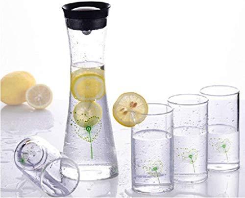 Tetera grande de vidrio para tetera de cristal, jarra de hielo de 800 ml, botella de agua fría de gran capacidad, resistente al calor (color: 1) (color: 1)