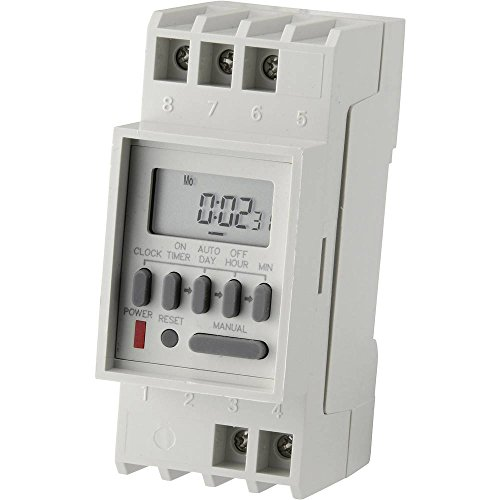 Conrad Components TM-848-2 Hutschienen-Zeitschaltuhr digital 230 V/AC 16 A/250 V