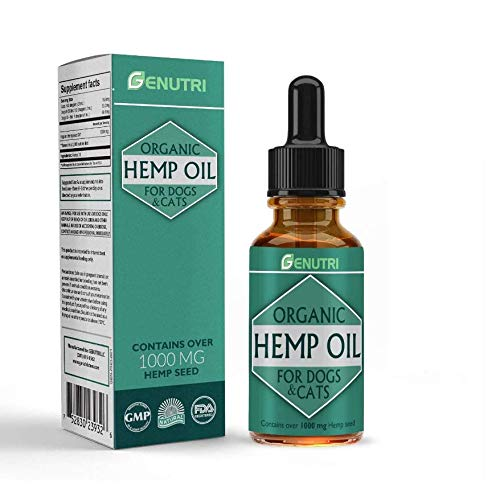 METACYL Hemp Oil for Dogs & Cats - Organic Pet Hemp Oil for Skin and Fur, Stress Relief Essential Oil and Anxiety Relief Supplements - Dogs & Cats Anxiety Relief - 1000 mg - Omega 3, 6 & 9