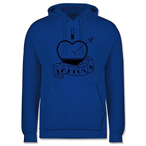 Shirtracer I Love - I Love Tattoos - L - Royalblau - Herz - JH001 - Herren Hoodie und Kapuzenpullover für Männer
