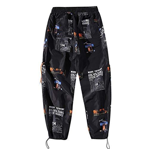 Männer Sportswear Hosen Street Hosen Elastic Waist Pattern Print Lässige Fitness Jogger Knöchellange Hip Hop Jogginghose