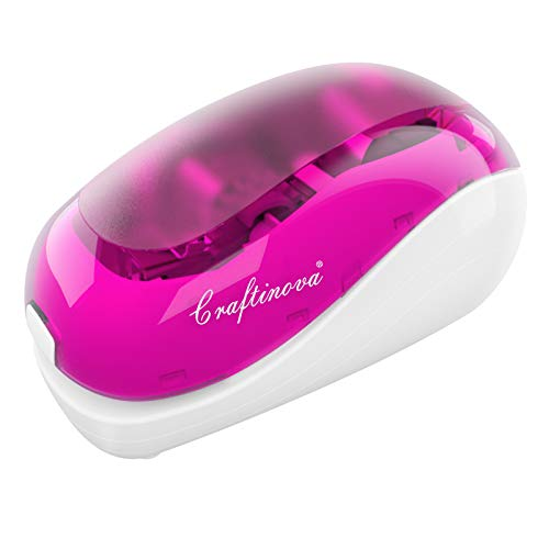Craftinova Electric Stapler-Pink,Including 2000 Staples and 1 adapters,Suitable for Palm Size and high Comfort,25 Sheet Capacity, AC Adapter or...