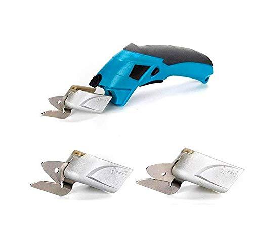 Tijeras eléctricas inalámbricas,Tijeras eléctricas para manualidades de tela eléctrica, cortador automático, 2 cuchillas cortadoras eléctricas para tela, papel, cartón