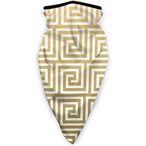 Fedso Magic Headwear blanco llave griega y elegante dorado unisex variedad bufanda pañuelo pañuelo para la cabeza polainas mascarillas