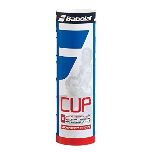 BABOLAT Cup Nylon 6er Pack Federbälle weiss verschiedene Größen, Farbe:weiß, Modell:SLOW