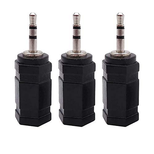 Gfhrisyty 3 Pezzi 3.5Mm Maleto 2.5Mm un Femmina Stereo Jack Audio Plug Adattatore per Cuffie Audio Aux Leads Cavo/Maschio un Femmina