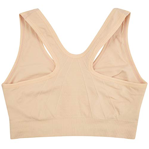 UMIPUBO Womens Zip Front Sports Bras Padded Seamless High Impact Support for Yoga Gym Fitness Stretch Crop Tops Vest Wirefree Post-Surgery Bra with Removable Pads for Women