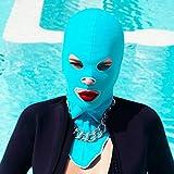 Gyratedream Sunscreen Swim Facekini wasserdichte Anti-UV Männer Frauen Badekappen Gesichtsmaske Ohr Lange Haare Schutz Tauchen Hüte