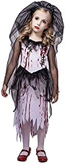 flatwhite Girl's Bloody Bride Halloween Costume