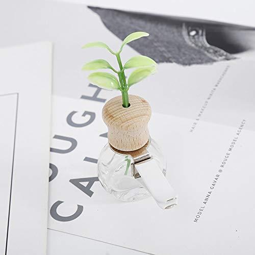CNSD Ambientador para coche con clip de olor a hierba, para decoración de salida automática, para botella vacía, accesorio de regalo sin perfume (nombre del color: elipse)