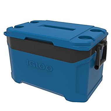 Igloo Latitude 50 quart Cooler - Fiesta Blue/Obsidian Gray