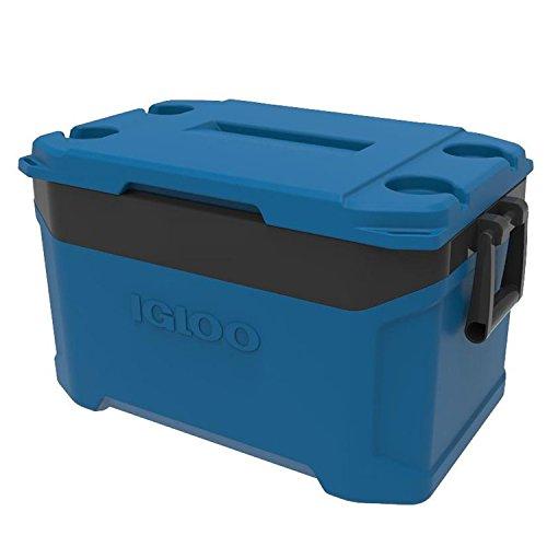 iGloo–Latitude 50Quart enfriador–fiesta azul/gris Obsidiana
