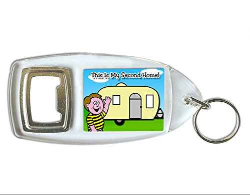 Caravan This Is My Second Home Bottle Opener Keyring Ideal Birthday Gift B43