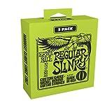 Ernie Ball Regular Slinky Electric Guitar Strings 3-Pack - 10-46 Gauge (P03221)