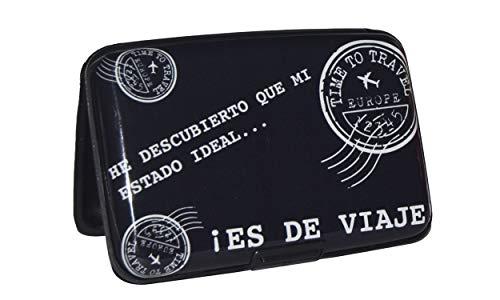 NIGHTMARE STYLE Tarjetero con función Bloqueo RFID y NFC (Negro). Porta-Tarjetas de Hombre o Mujer. Pasaporte Seguro. Equipaje de Viajes. Regalo Ideal