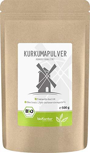 BIO Kurkuma Pulver gemahlen 500g | Kurkumapulver - Curcuma - Curcumin | 100% naturrein | Rohkostqualität | aus Indien von bioKontor