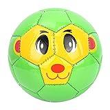 Pelotas de fútbol suaves de dibujos animados, niños, deportes al aire libre, fútbol, pelota de fútbol, PVC, juego de interior para bebés, niños pequeños, verde y bonito juguete de pelota para niño