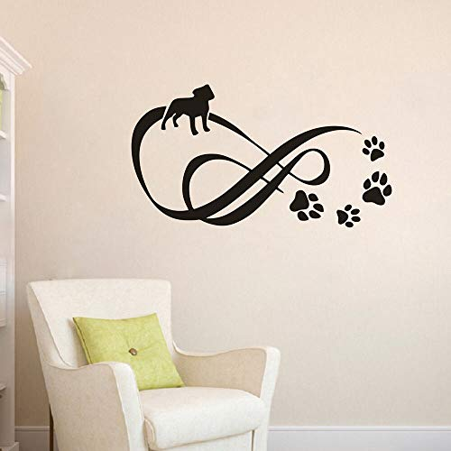 Geiqianjiumai Pet Point hond klauwe muursticker vinyl sticker voetstuk salon decoratie bewegende muurschildering