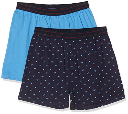 Living Crafts Boxershorts, 2-pack S, marine/azuur