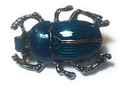 FizzyButton Gifts Donker Turkoois Scarab Kever Strass Broche, Badge Sjaal pin