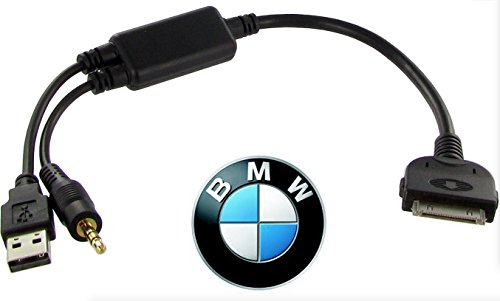 Audio Music Charging Cable Adapter OEM USB AUX for BMW iDRIVE to iPod iPhone iPad