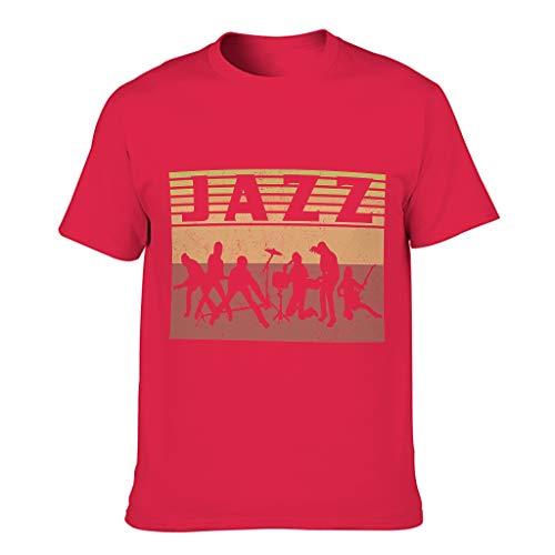 FFanClassic Camiseta de algodón para hombre Jazz Cool Funny Skin-Friendly - Theme Tops