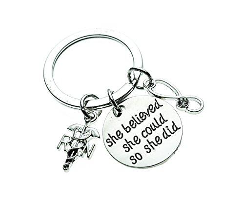 Infinity Collection Nurse Keychain, Nurse Gift, Nursing Keychain Makes Perfect Nurses Gift