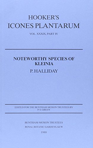 Halliday, P:  Noteworthy Species of Kleinia