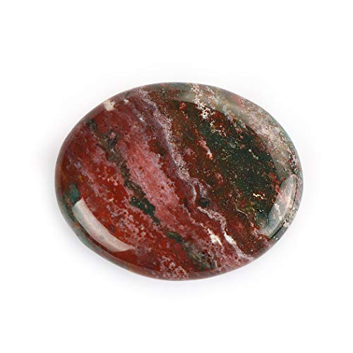 "Artistone 2.0"" Worry Stone Ocean Jasper, 1pcs Thumb Worry Tumbled Stone Palm Pocket Energy Stone Chakra Reiki Healing Crystals for Anxiety Stree Relief (Gift Box)"