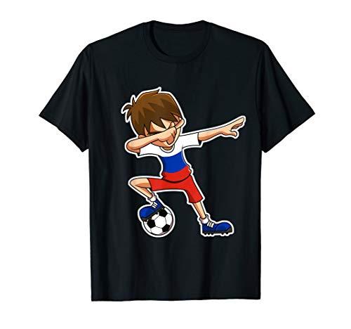 Dabbing Soccer Boy Russia Trikot, Russische Kinder Geschenke T-Shirt