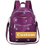 JINTD Nombre Personalizado Rucksack Bolsa Mujer Moda Mayor Mayor Mayor Daypack Pulse Bolsa DE Viaje DE MAQUETA (Color : Purple, Size : One Size)