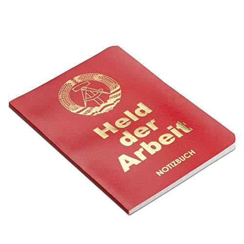DDR-Nostalgie Notizbuch 'Held der Arbeit' | Ost-Produkte Geschenk | Berlin Souvenir