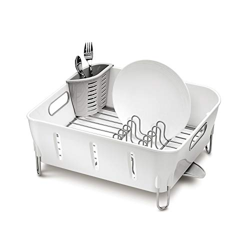 simplehuman Kompaktes Abtropfgestell, Kunststoff, weiß