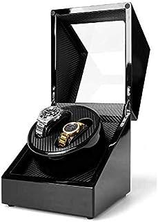 Caja de exhibición automática de doble reloj con motor japonés para reloj Rolex, almohadillas flexibles para reloj suave y para damas y hombres, funciona con alimentación de CA o DC.